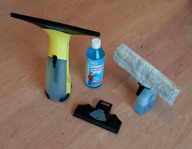 The karcher window cleaner including all the bits we purchased