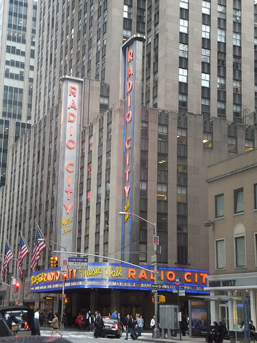 Radio City music hall view from the outside
