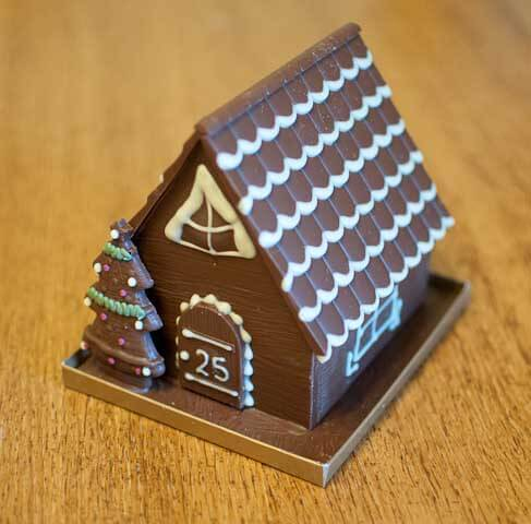 The chocolate house ready to be eaten