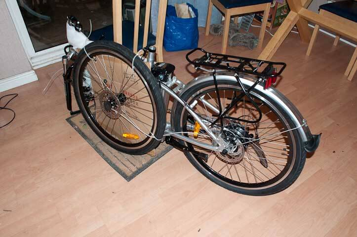 My new Juicy Sport electric bike as it arrives out of the box ready for putting together