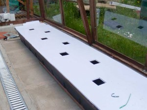 The final channel ready for the plants